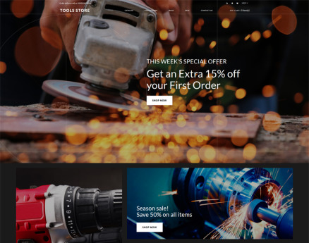 Tools Store - Tools & Equipment Creative Shopify Theme