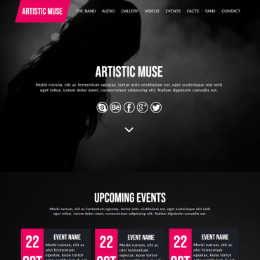 Купить  пофессиональные Muse шаблоны. Купить шаблон #82692 и создать сайт.