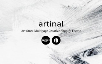 Artinal - Art Store Multipage Creative Shopify Theme