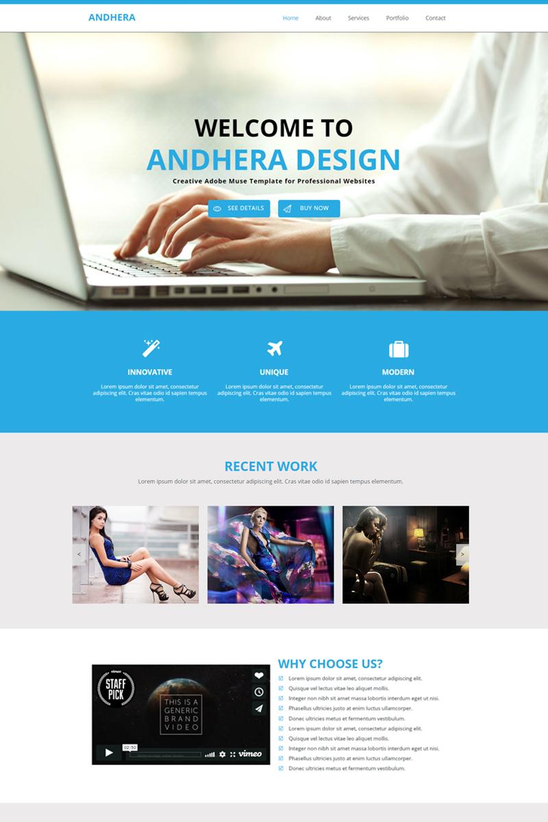 Andhera - Multipurpose Template Muse №82689