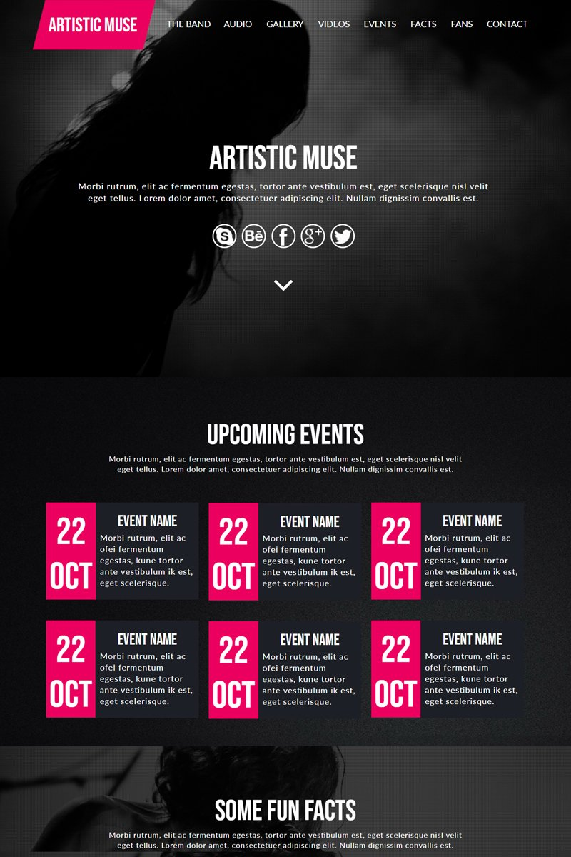 """Artistic Band"" Muse Template №82692"
