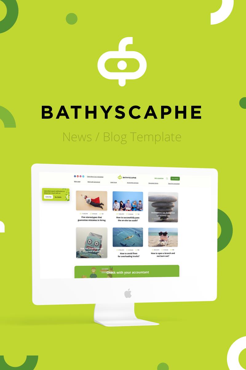 """Bathyscaphe — Publishing/News/Blog"" modèle Sketch  #82663 - screenshot"