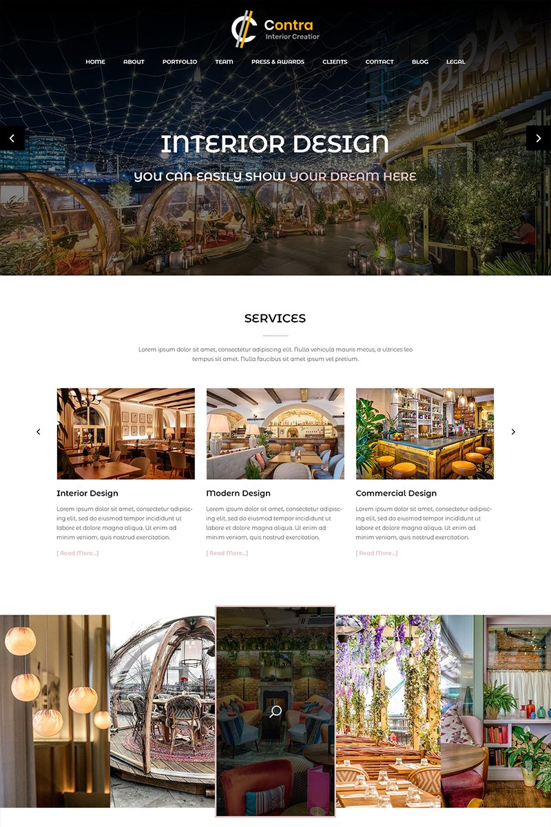 """Contra - Interior Design"" - PSD шаблон №82631"