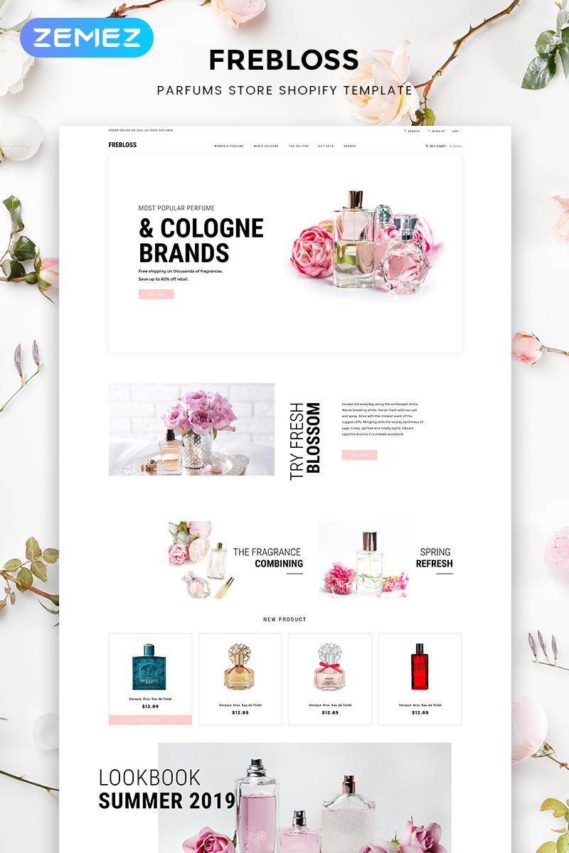 """""""Frebloss - Perfume Store Clean"""" thème Shopify adaptatif #82696"""