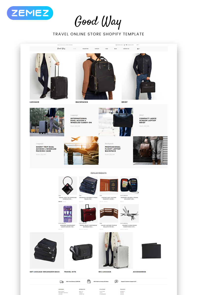 Good Way - Travel Online Store Clean Shopify Theme - screenshot