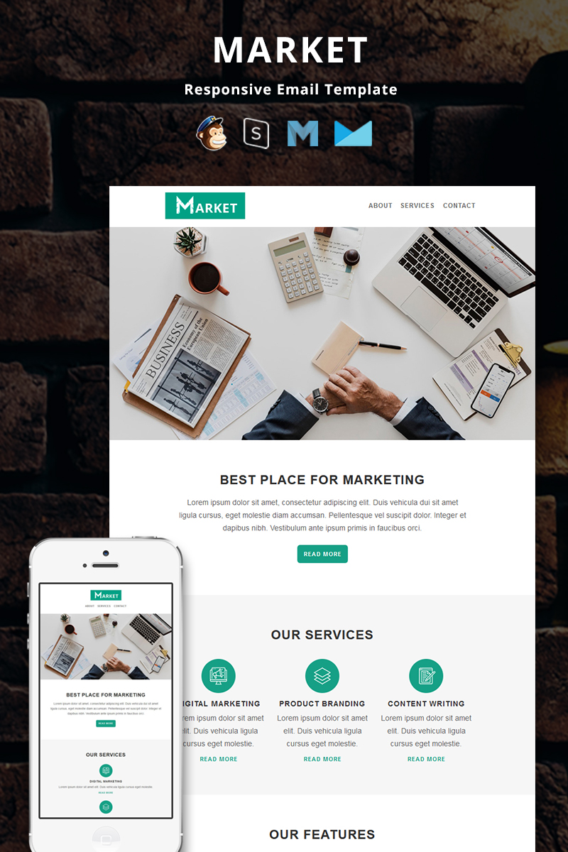 Market - Corporate Responsive Email №82654