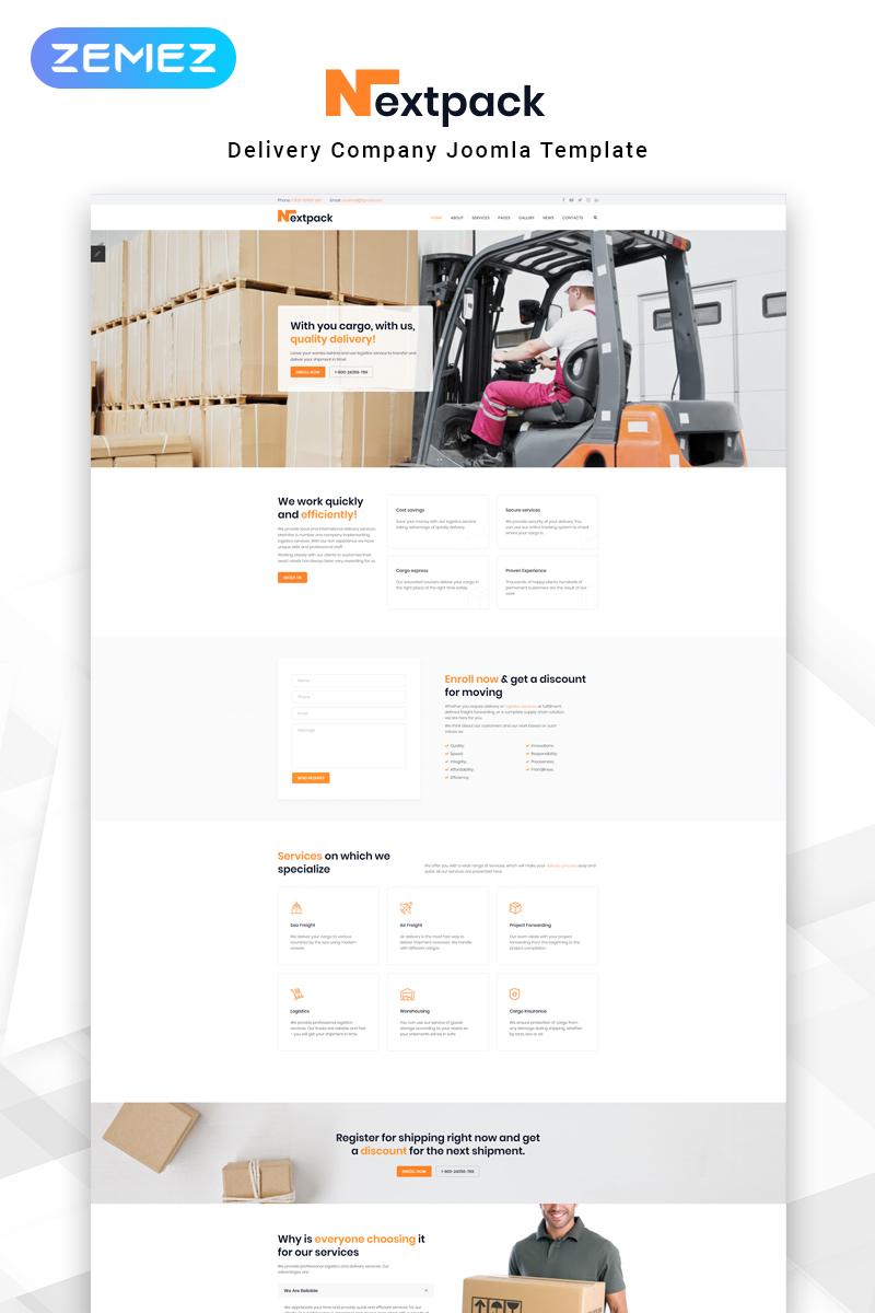 "Modello Joomla Responsive #82640 ""NextPack - Delivery Services Clean"""