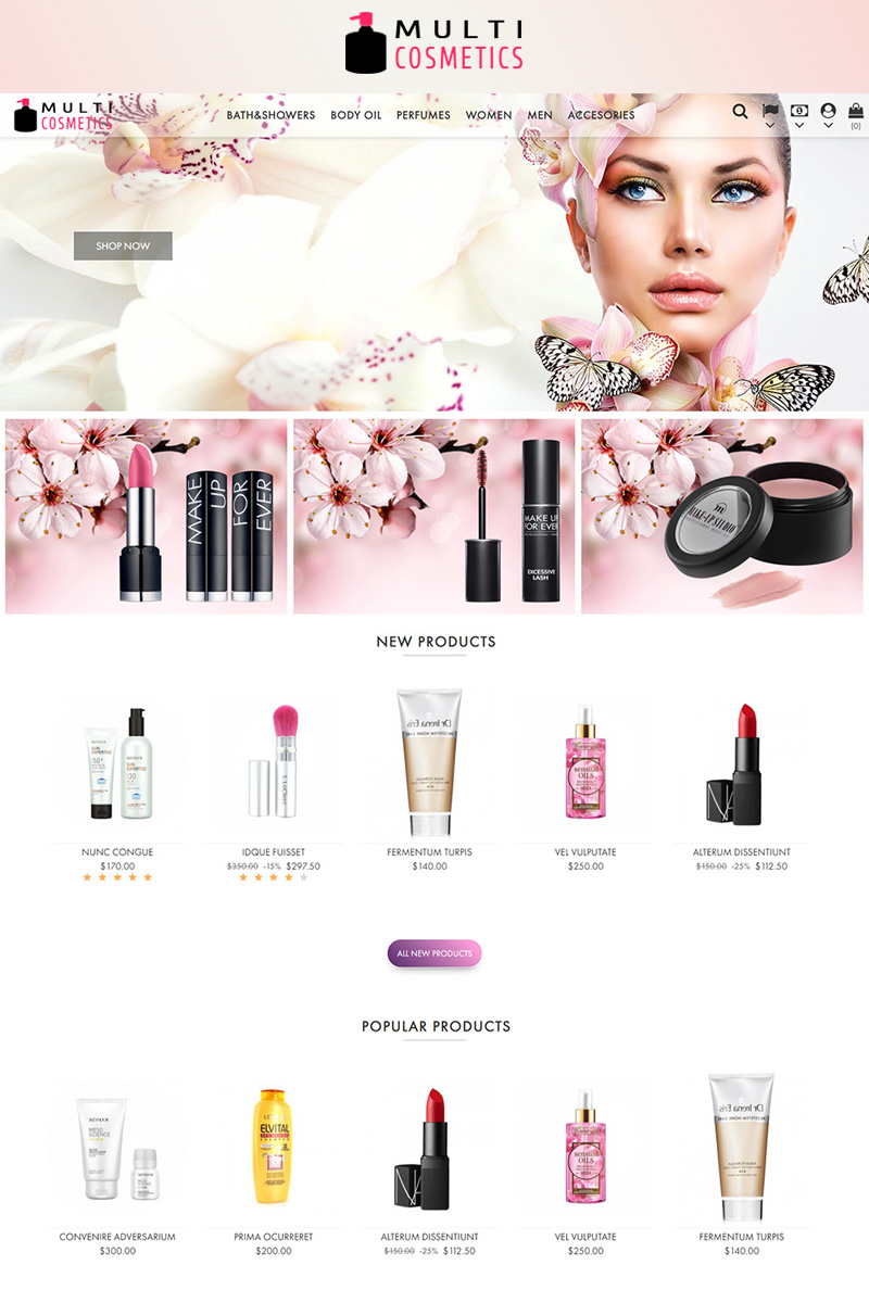 Multi Cosmetics Tema PrestaShop №82602
