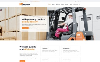 NextPack - Delivery Services Clean Joomla Template
