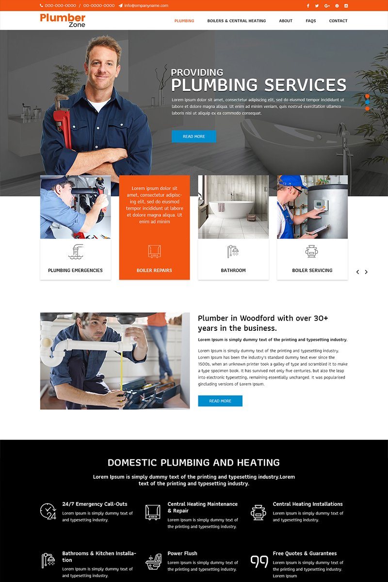 Plumber Zone - Plumbing Services Psd #82655