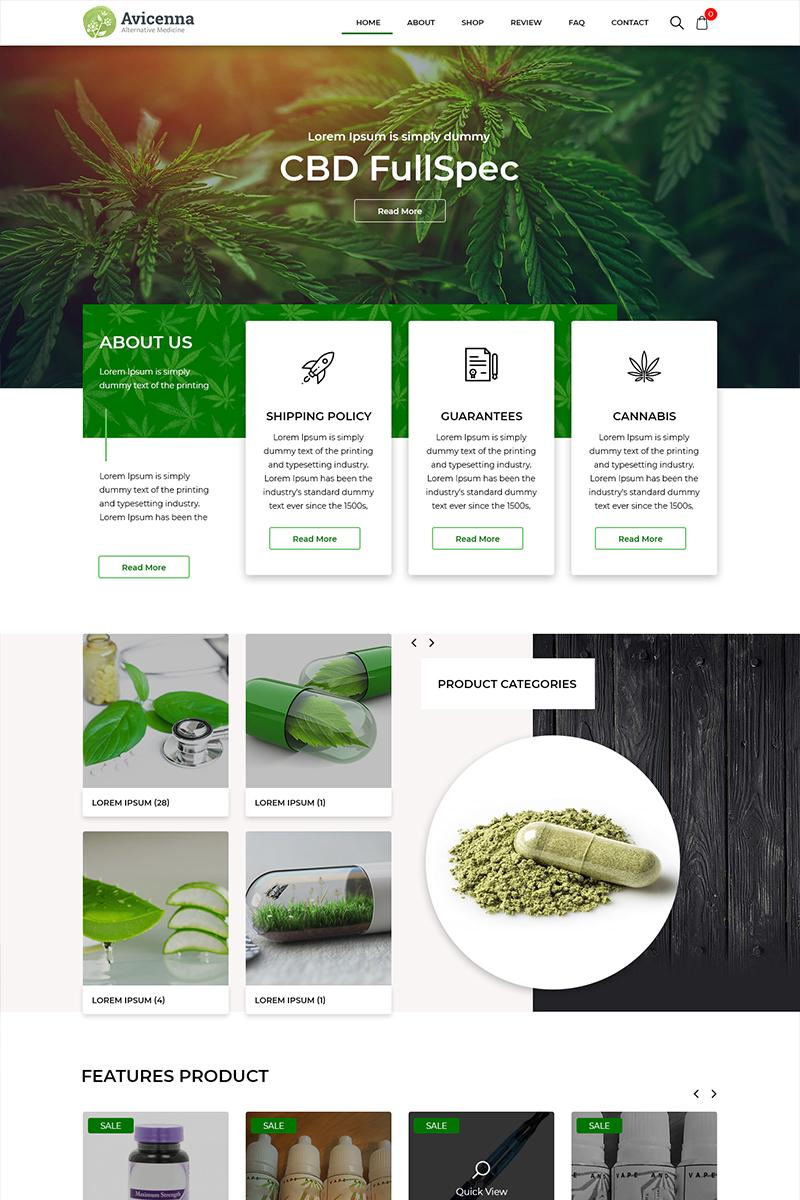 "PSD Vorlage namens ""Avicenna - Alternative Medicine"" #82623"