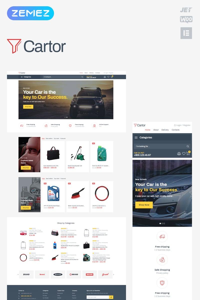 Responsive Cartor - Auto Accessories ECommerce Classic Elementor Woocommerce #82635 - Ekran resmi