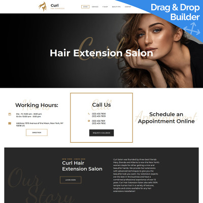 Hair Salon Responsive Moto CMS 3 šablona