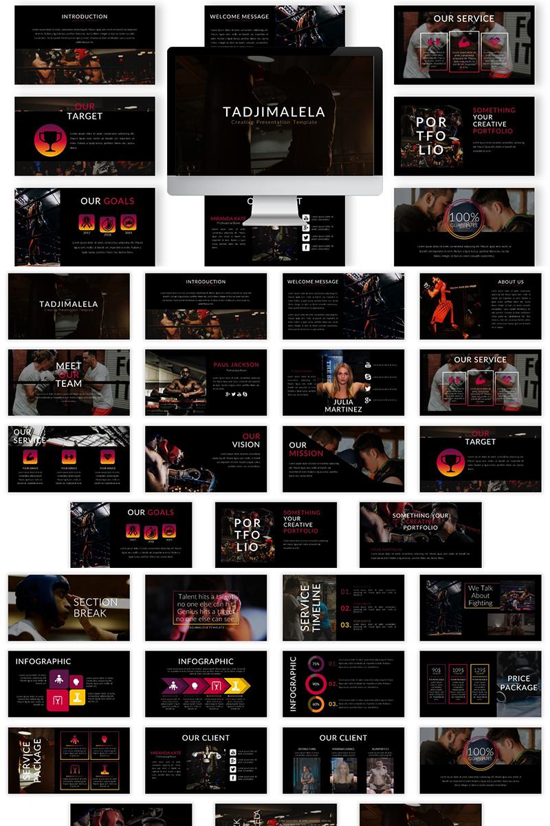 "Šablona pro Keynote ""Tadjimalela"" #82657 - screenshot"