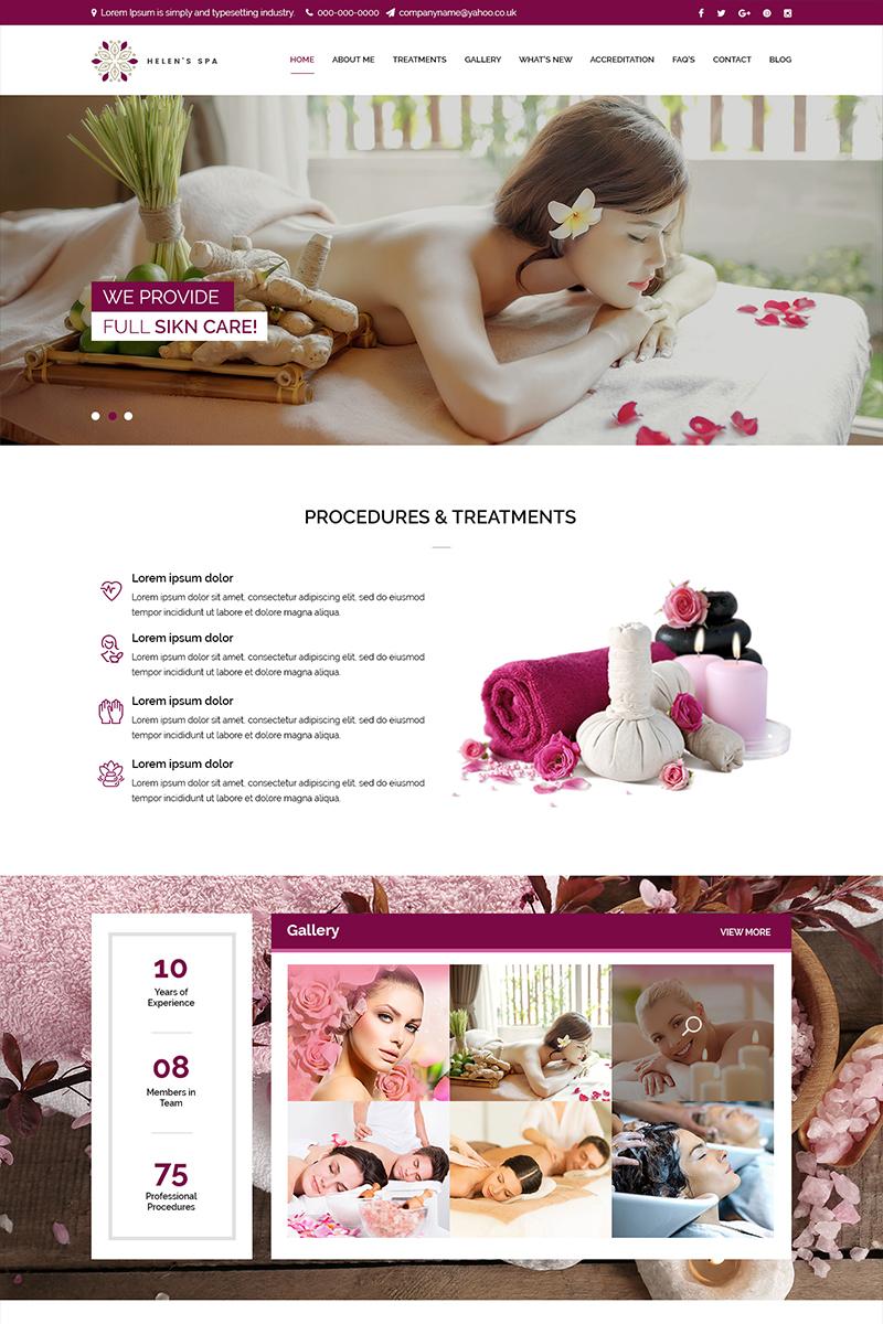 Szablon PSD Helens Spa - Beauty Spa #82650
