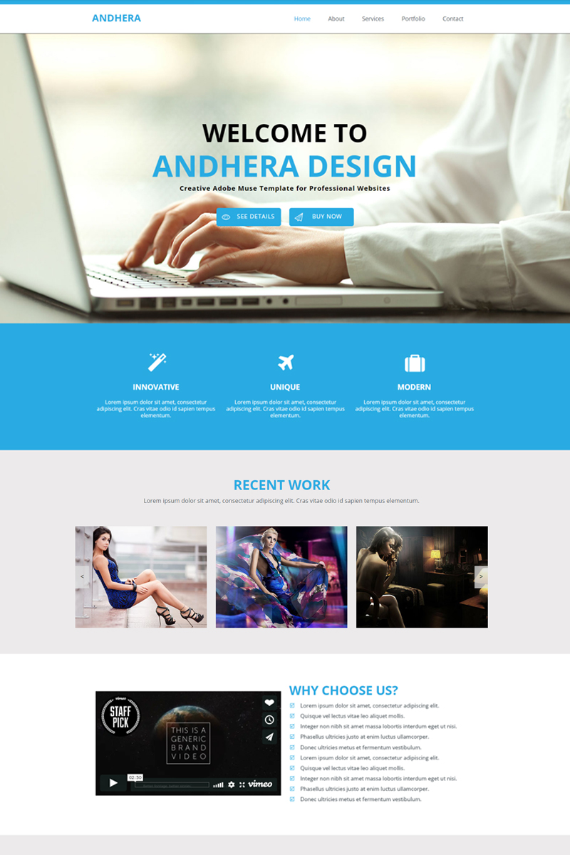 "Tema Muse #82689 ""Andhera - Multipurpose"""