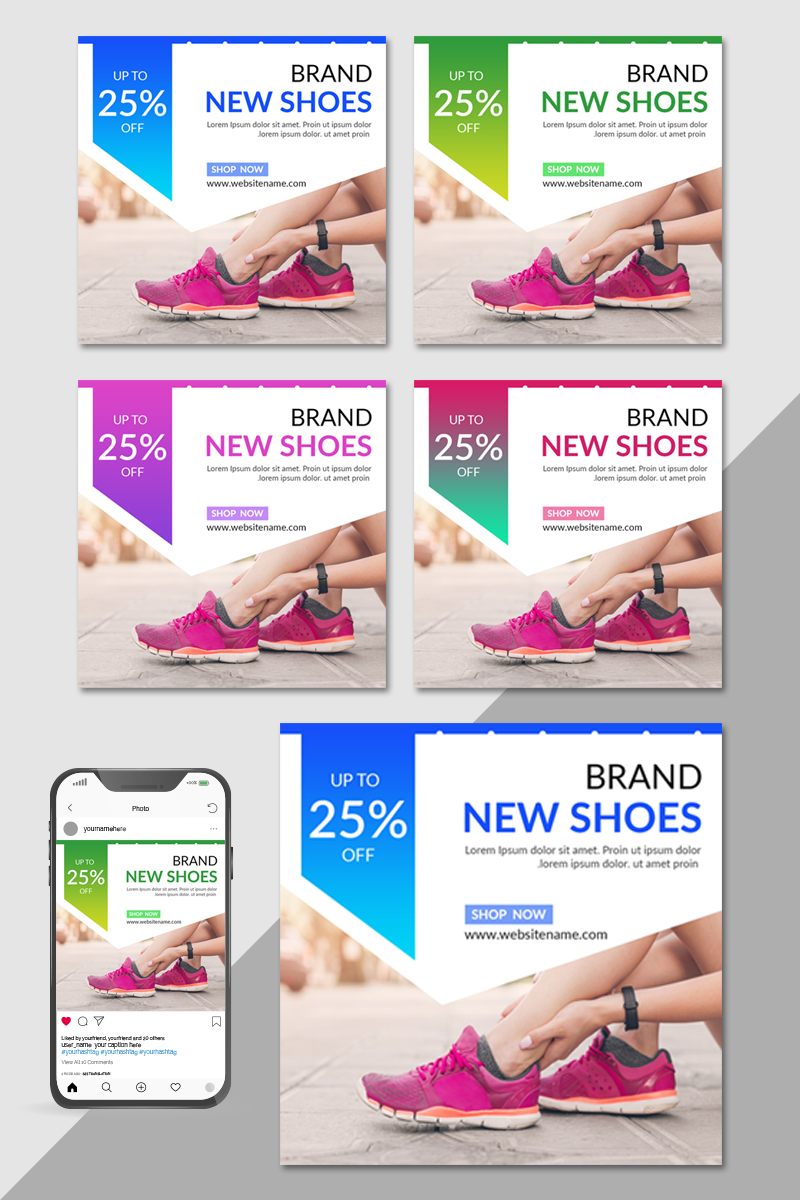 "Tema Social Media #82626 ""Brand Shoes Post"""