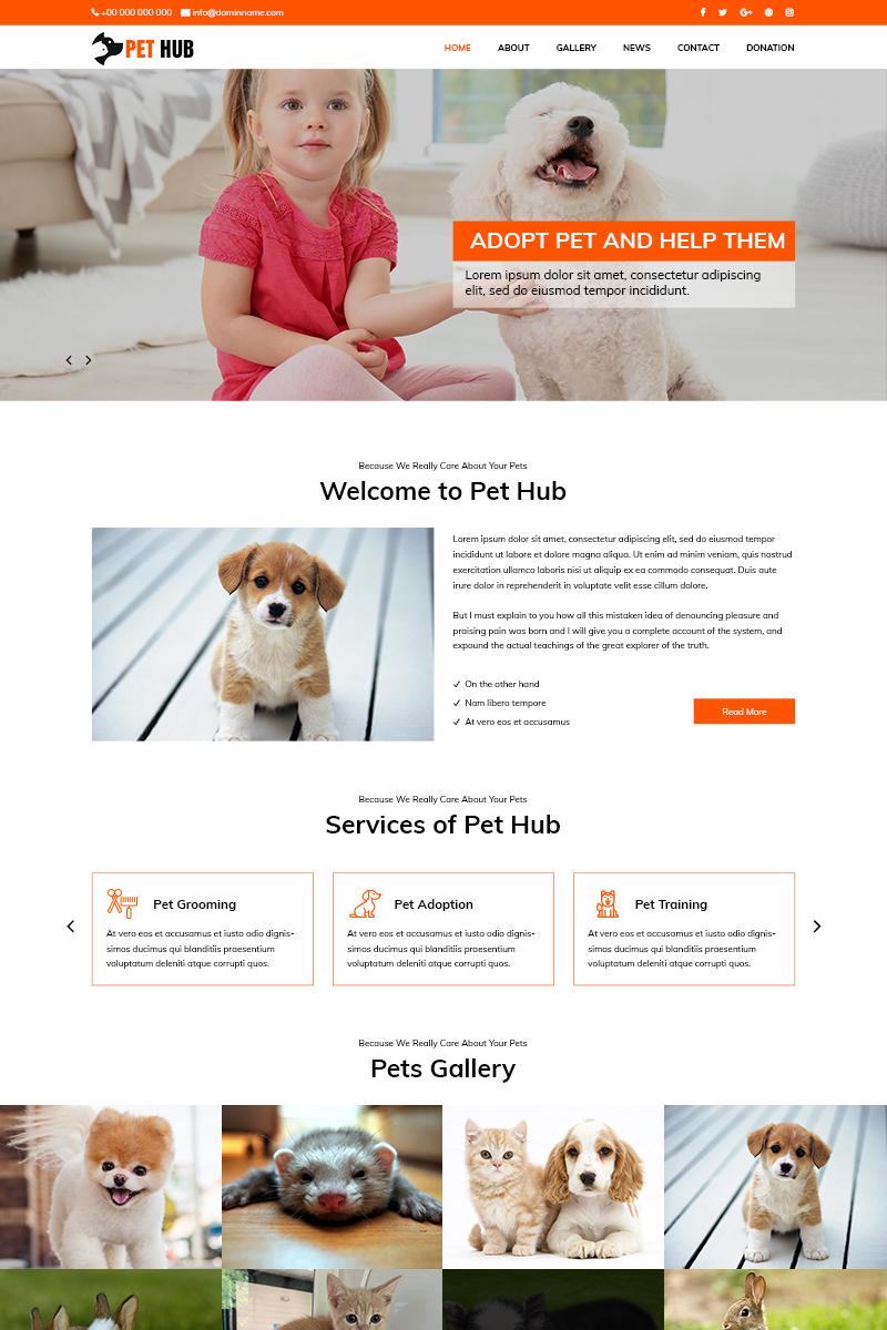 "Template PSD #82627 ""Pet Hub - Animal Shelter"""