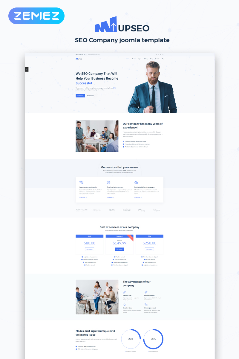 UPSEO - SEO Ready-to-Use Clean Joomla Template