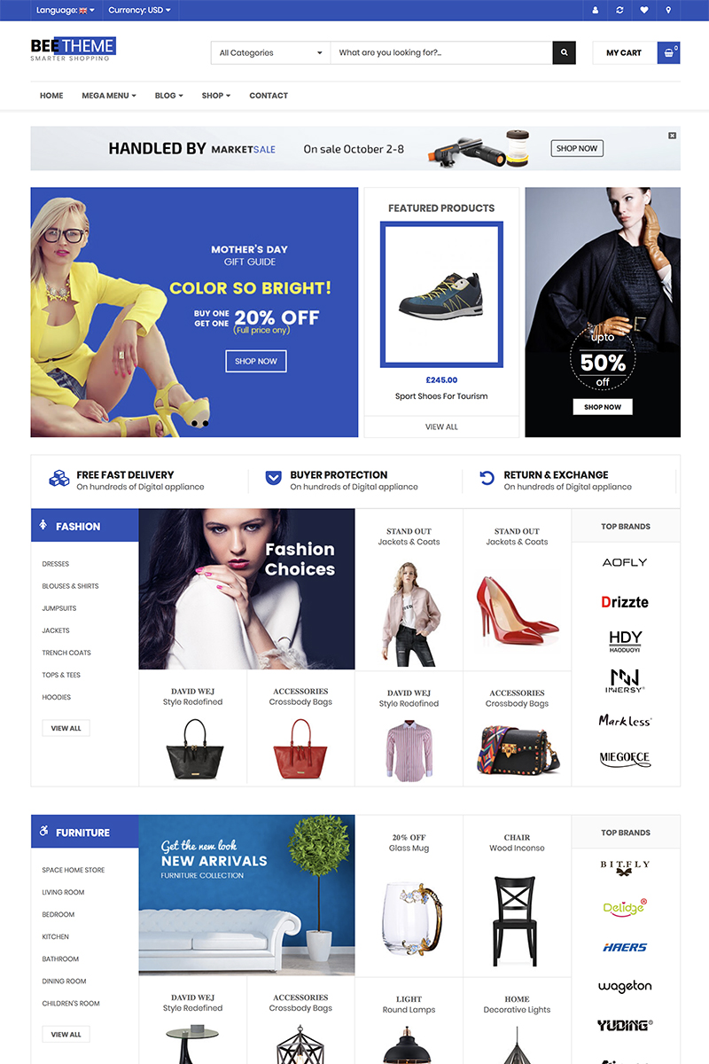 """WooCommerce motiv """"Beetheme - Market Shop"""" #82605"""