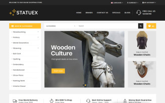 Statuex - Art Gallery Shop OpenCart Template
