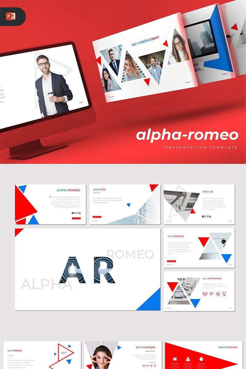 Alpha-Romeo - PowerPoint Template