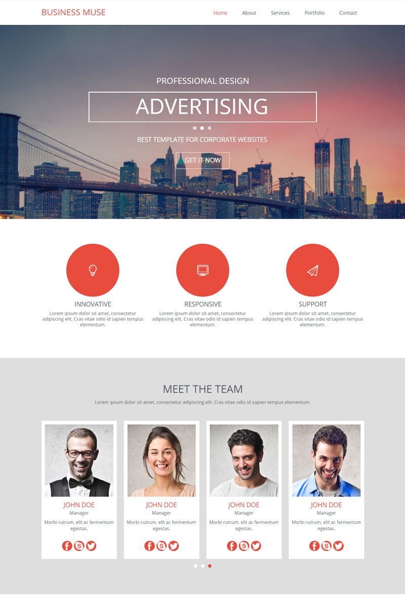 """""""Business"""" Muse Template №82768"""