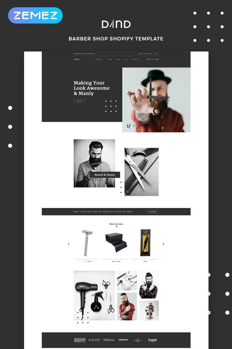 """Dand - Hair Salon Multipage Modern"" thème Shopify adaptatif #82751"