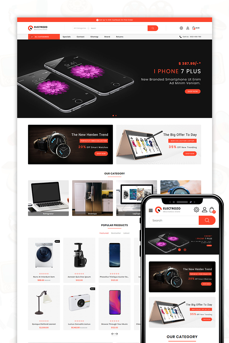 Electrozo PrestaShop Theme - screenshot