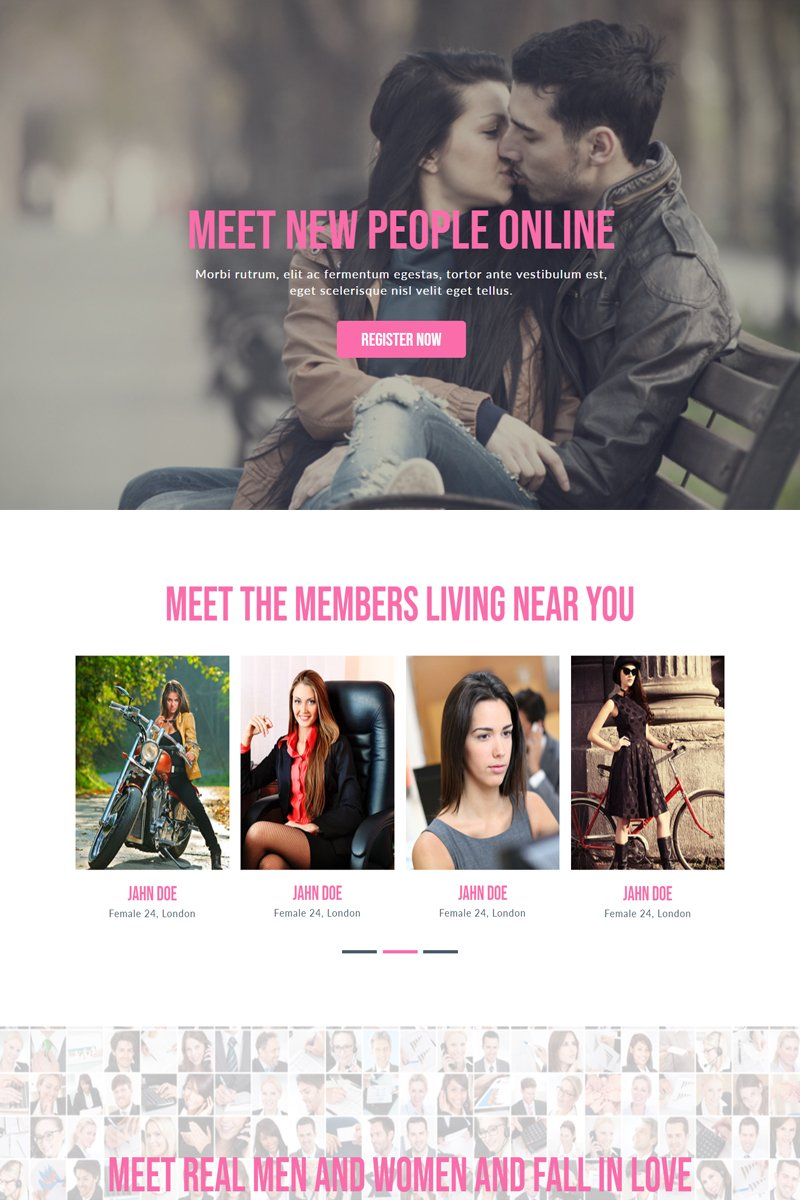 """""""Love Dating"""" Muse Template №82747"""