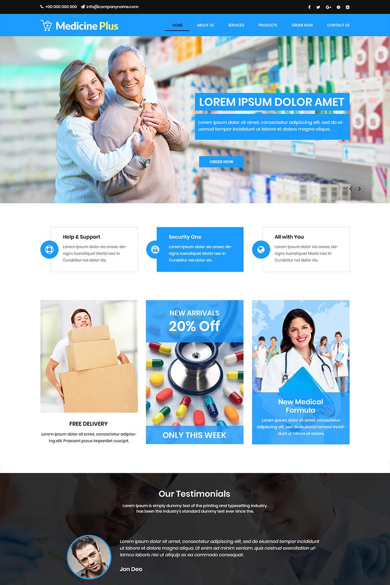 """""""Medicine Plus - Medicine Shop"""" - PSD шаблон №82727"""