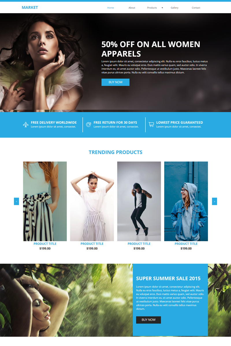 "Muse Template namens ""Market E-commerce"" #82746"