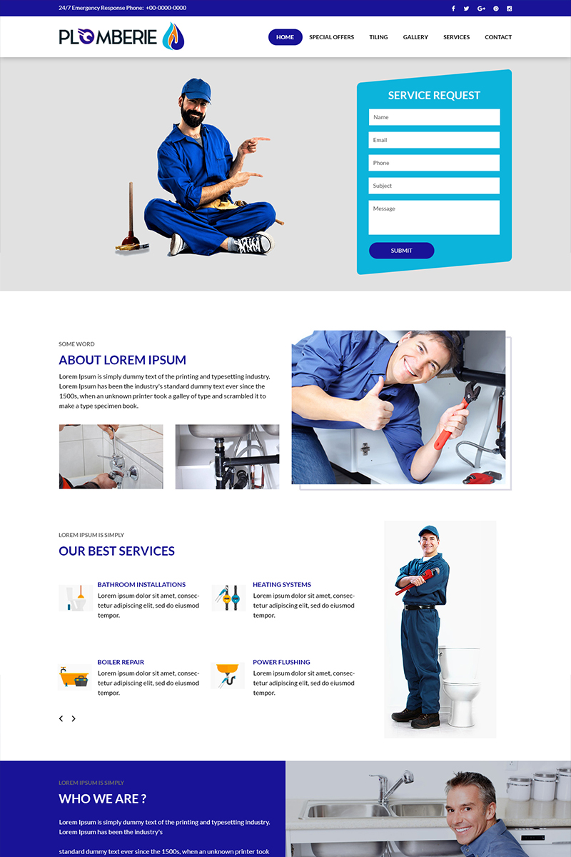 Plomberie - Plumbing Services Psd #82724
