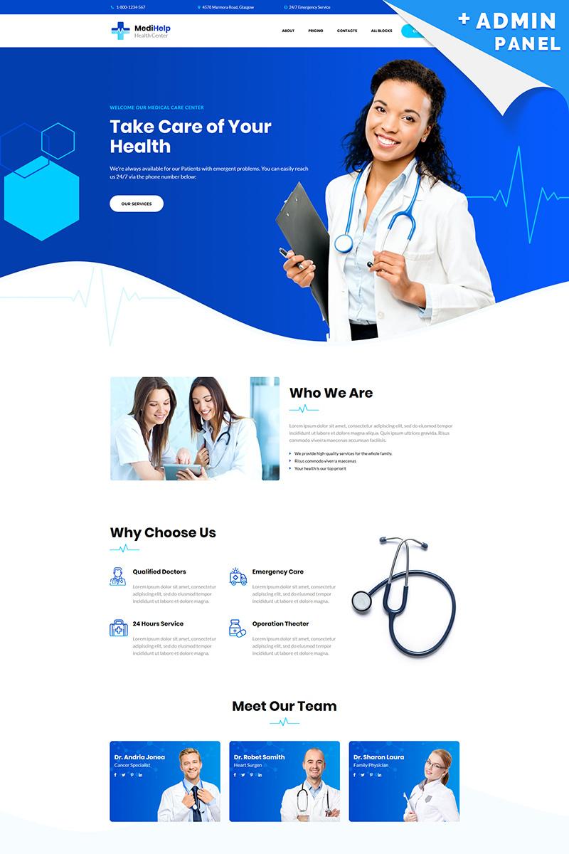 Responsivt MediHelp - Health Center Landing Page-mall #82788