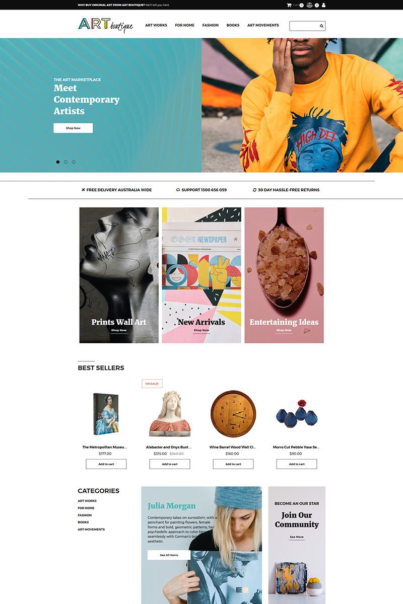 "Responzivní MotoCMS Ecommerce šablona ""ARTboutique - Art Gallery Store"" #82718 - screenshot"