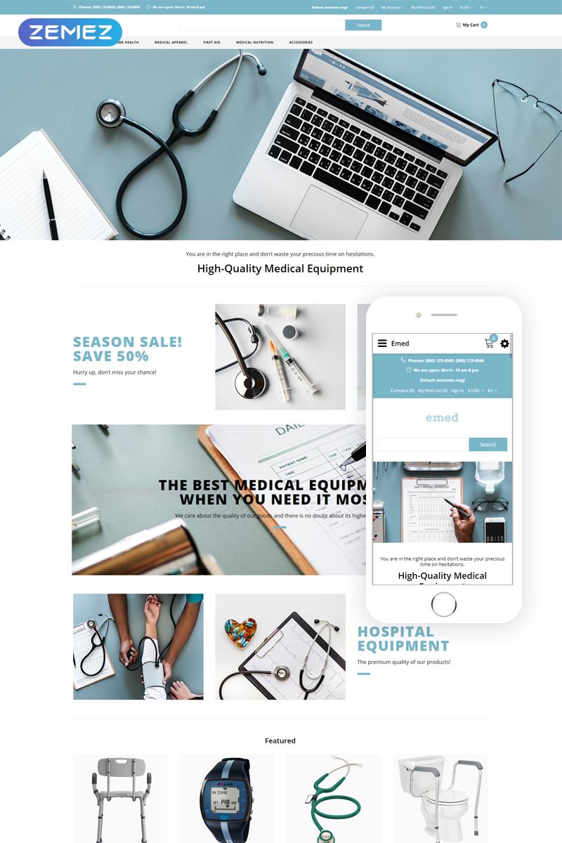 """Responzivní OpenCart šablona """"Emed - Medical Equipment Multipage Clean"""" #82750 - screenshot"""