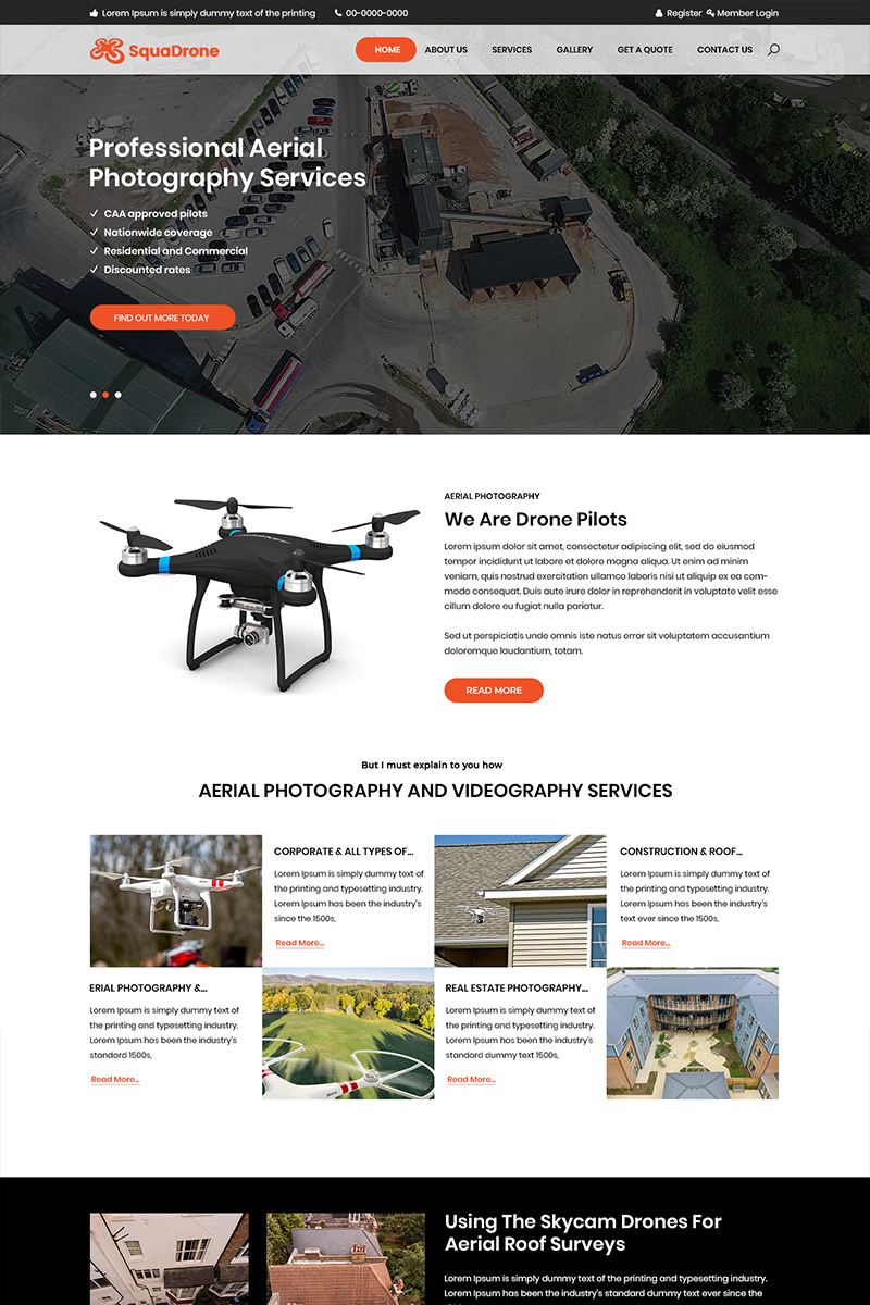 Squadrone - Arial Photography PSD Template