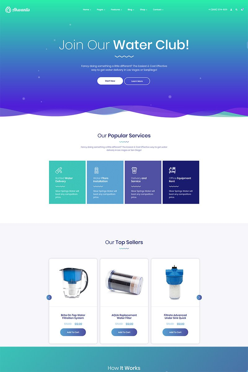 Akwantis - Bottled Water Delivery Website Template