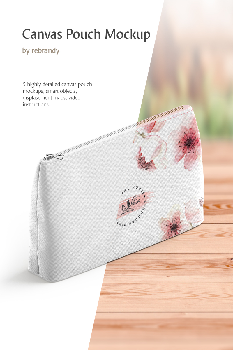 """""""Canvas Pouch"""" Product Mockup №82877"""