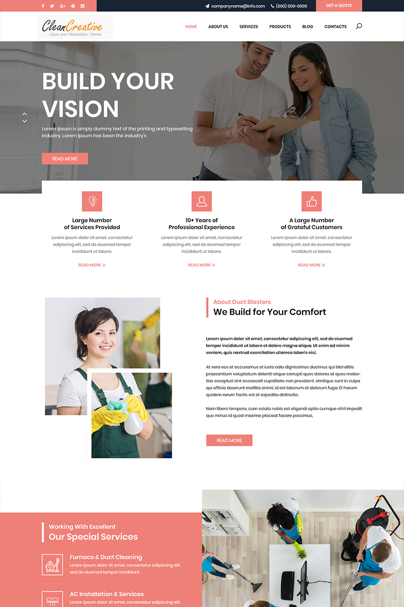 Clean Creative - Multipurpose Cleaning PSD Template