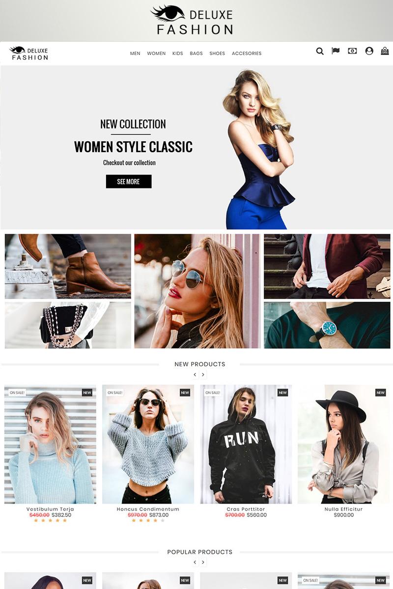"""""""Fashion Deluxe Prestashop 1.7"""" - адаптивний PrestaShop шаблон №82879 - скріншот"""