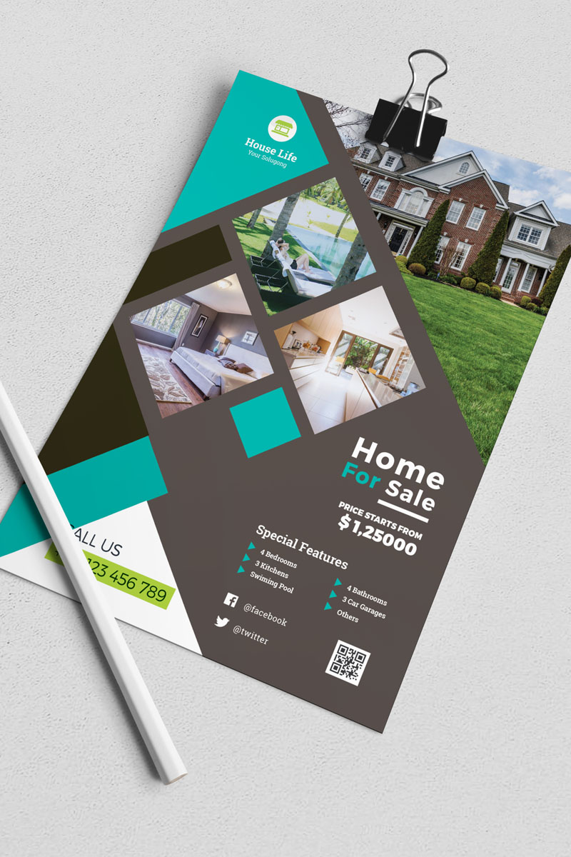 House Life - Real Estate Flyer Corporate Identity Template - screenshot