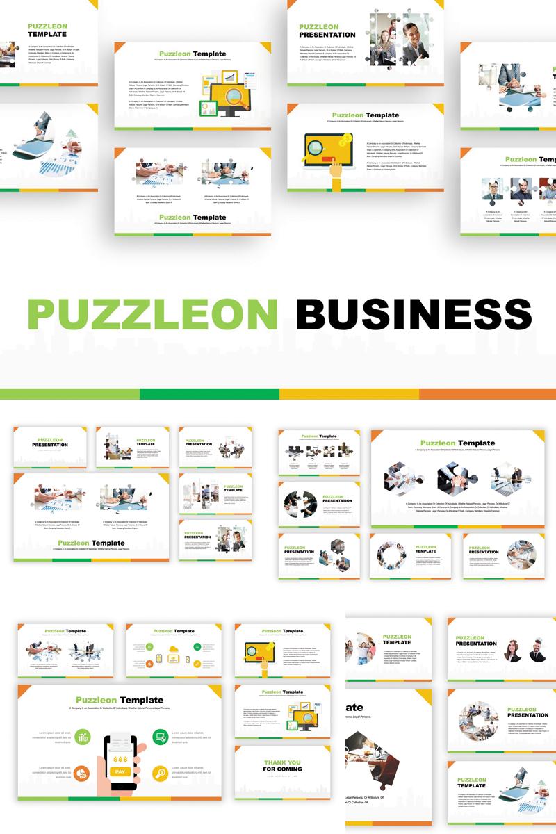 "Luxusní PowerPoint šablona ""Puzzleon"" #82898"