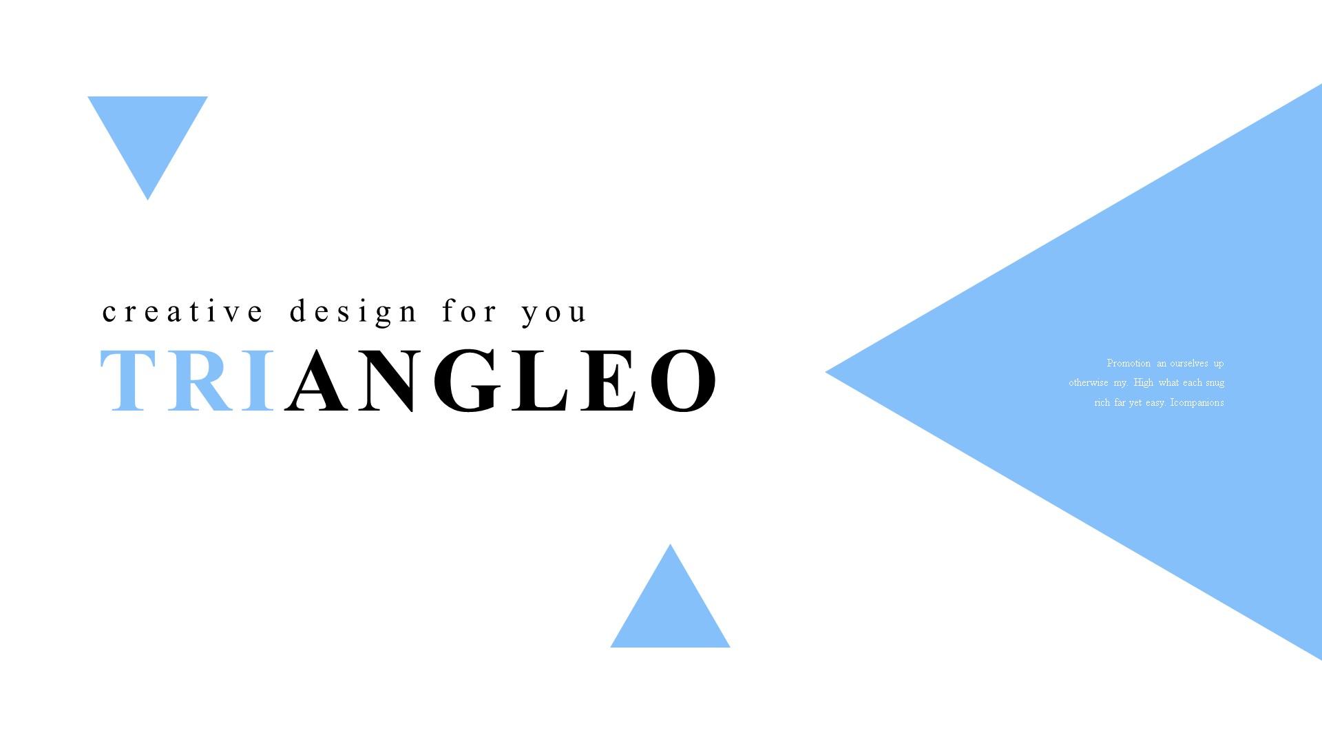 """Luxusní PowerPoint šablona """"Triangleo"""" #82892"""