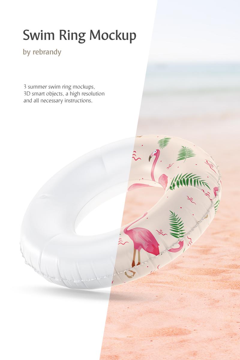 """Modello Mockup del prodotto #82808 """"Swim Ring"""" - screenshot"""