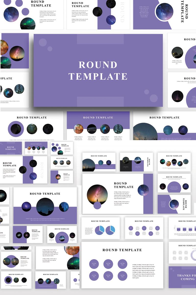 Prémium Round PowerPoint sablon 82895 - képernyőkép
