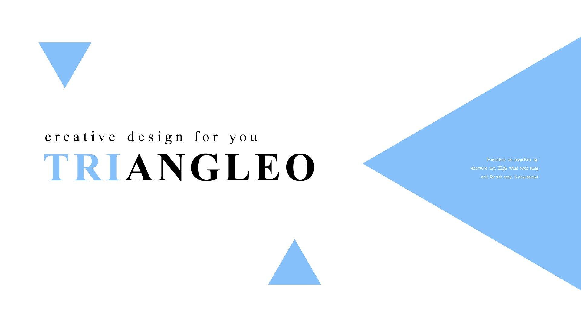 Premium Triangleo Powerpoint #82892
