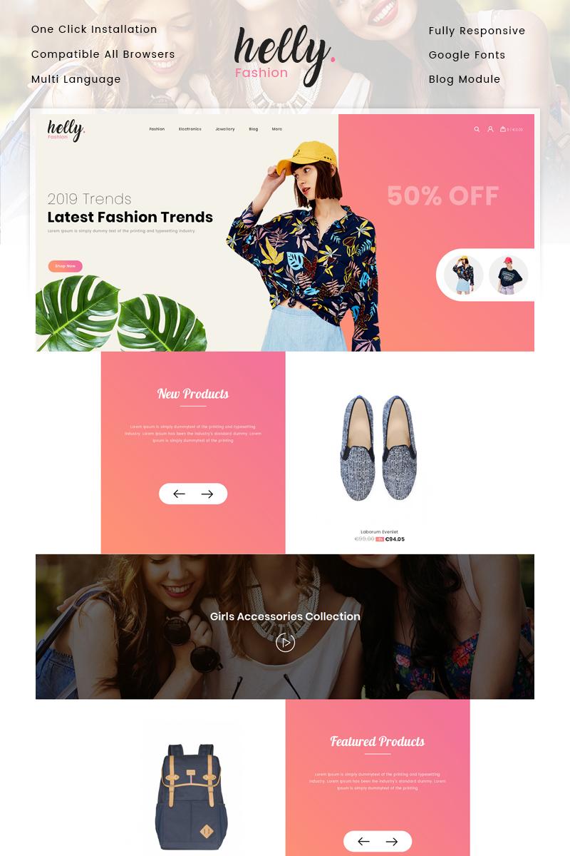 "PrestaShop Theme namens ""Helly Fashion Store"" #82809 - Screenshot"