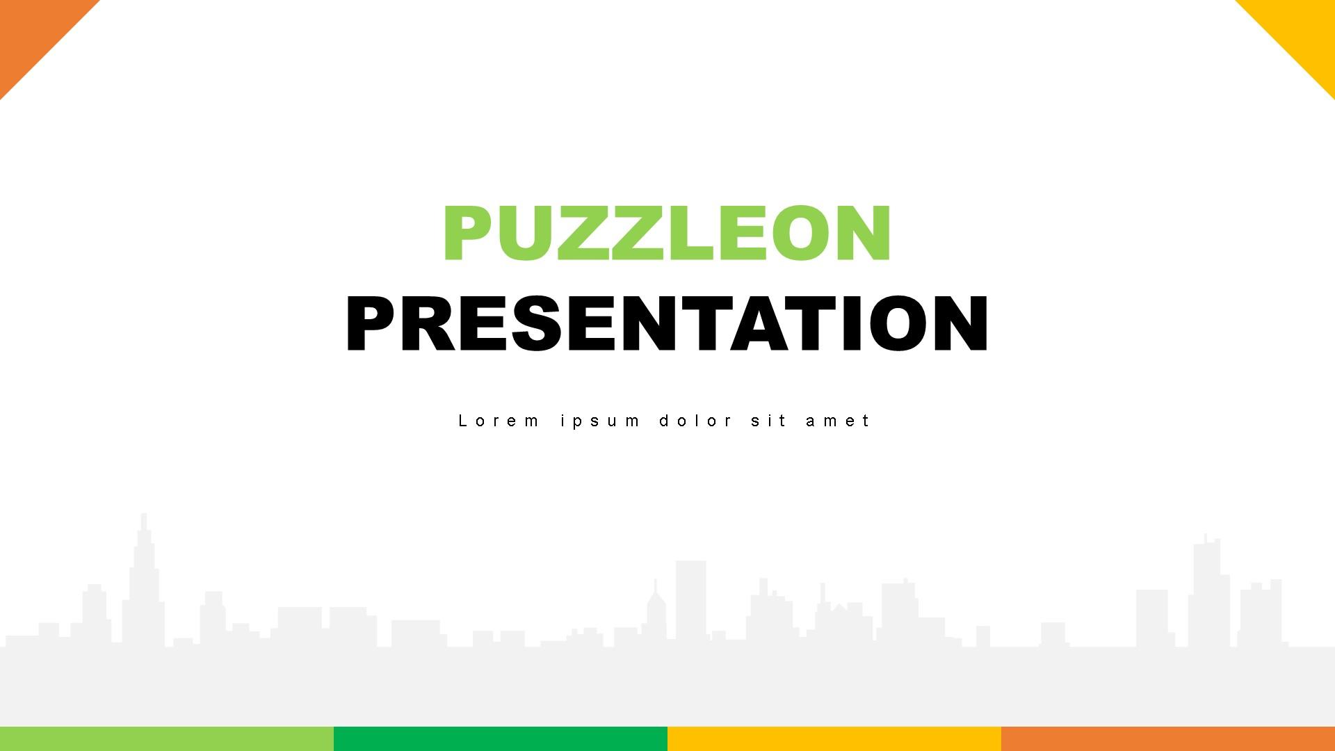 """""""Puzzleon"""" 奖金PowerPoint 模板 #82898"""