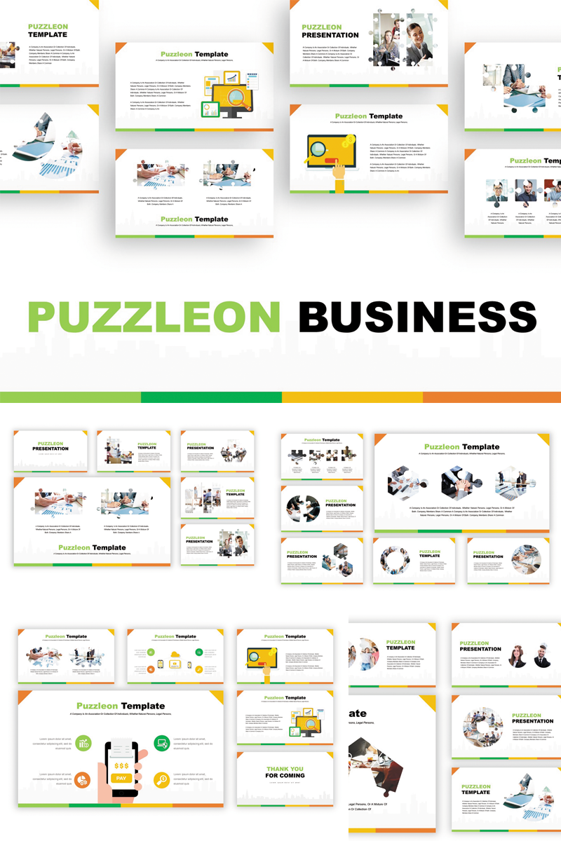 Puzzleon Template PowerPoint №82898